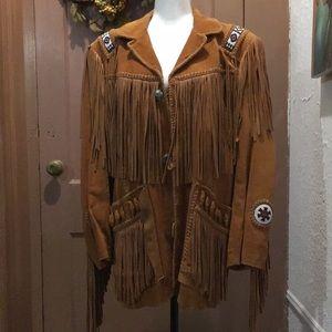 SCULLY Unisex Men's Suede Fringe Jacket never worn